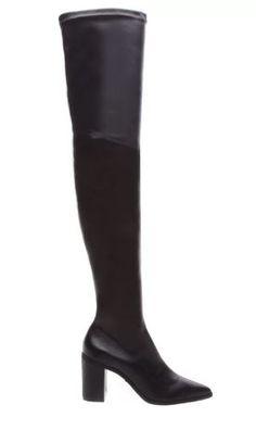 BOTA OVER THE KNEE STRETCH BLACK Knee Boots, Heeled Boots, Bota Over, Knee Stretches, Black Boots, Heels, Fashion, High Heeled Boots, Moda