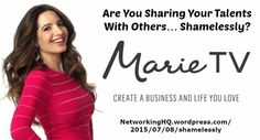 "Networkers! ~ New article, ""Are You Sharing Your Talents With Others… Shamelessly?"" on my ‪#‎Networking‬ Blog (designed not to sell, but to teach!). Something new about networking is posted every 4th day! More than 520 FREE Articles! Tell your friends by clicking ""SHARE."" ~ https://NetworkingHQ.wordpress.com/2015/07/08/shamelessly  Two other Networking HotSpots:   http://www.TenCommitmentsofNetworking.com https://www.Facebook.com/NetworkingHeadquarters"
