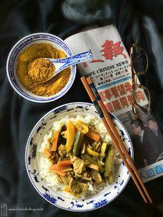 Briciole di Sapori: Vitello con verdure al curry e riso Basmati. Ma qu...