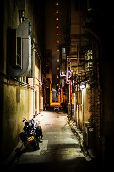 Night Alley in Hong Kong