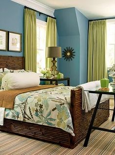 Love everything about this bedroom!