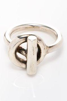 HauteLook | Vintage Hermes Jewelry & Accessories: Vintage Hermes Metal Spi Ring - Size 6.5