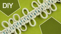 This Square knot design feature picots, which are small loops at the sides of the knot. Picots are simply loops along the edges. Picot Designs are vintage Macrame techniques. They are often used to make the edges of craft items to look like as flower petals. This is a good project for children and beginners to learn one of the basic knots frequently used in Macrame. To this pattern you can add pearls and have an interesting look. #HowTo #SquareKnot #Loops #DIY #Tutorial
