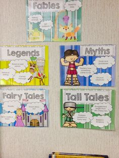 Cute classroom posters for folktales!