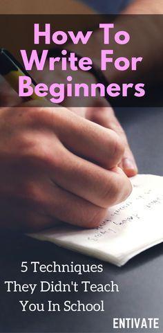 Beginner Writer Tips