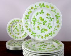 ultra feminine floral Ironstone dishes, made in Japan