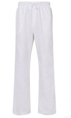5c62935cd2 Aimwell Mens Linen Light Weight Drawstring Beach Yoga Pyjama Casual Summer  Trousers – White White Pants