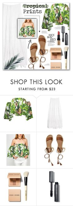 """Tropical prints"" by annabmikkelsen ❤ liked on Polyvore featuring KAS New York, Hollister Co. and Bobbi Brown Cosmetics"