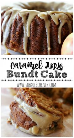Delicious, easy apple bundt cake topped with a perfect caramel glaze.
