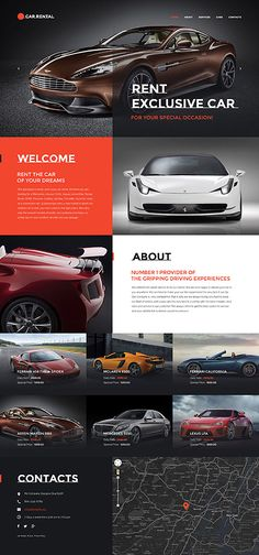 Exclusive Car Rental #website #template. #themes #business #responsive #websitethemes
