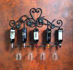 How to Holders Wooden Wine Glass on Hanging Wine Rack | Interior ...