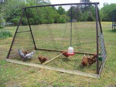 DIY swing set chicken coop #diy #chicken coop #home