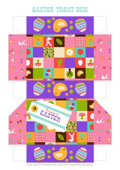 Printable Easter treat gift box