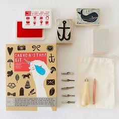Un completo kit DIY para hacer sellos de goma