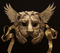 Winged Lion by TheArtOfTheMask on Etsy, $175.00
