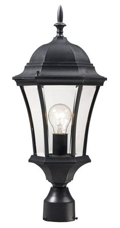 Madison 89 inch 4 globe four light outdoor lamp post swedish iron z lite wakefield 1 light outdoor post light with clear beveled shade black outdoor lighting post lights post lights aloadofball Images