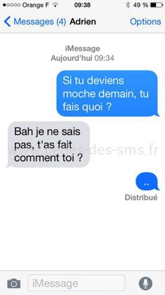 20 Conversations les plus hilarantes : Pires Calshs et SMS drôles Funny Sms, Funny Messages, Funny Texts, Funny Jokes, 9gag Funny, Funny Friday Memes, Friday Humor, Monday Memes, Animals Tumblr