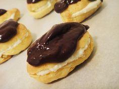 Eggless Mini Chocolate Eclairs