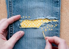Love these tips for mending clothes in cute ways.