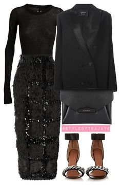 """""""Untitled #2011"""" by stylebyteajaye ❤ liked on Polyvore featuring Rick Owens, Roksanda, Lanvin and Givenchy"""