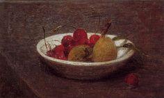 Still Life of Cherries and Almonds, 1870 - Henri Fantin-Latour ...