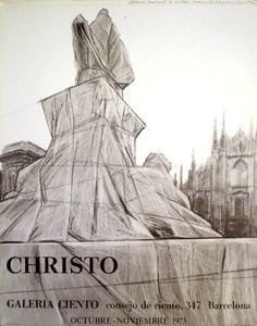 CHRISTO rare exhibition poster from 1975 Litho