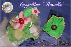 """Cappellino """"ROSSELLA"""" con castagna. Portafortuna da usare come segnaposto o decorazione per confezione regalo. PROFUMATISSIMO. Mi trovi su FACEBOOK: """"Le Bambole di Moira Solena"""" https://www.facebook.com/LeBamboleDiMoiraSolena/"""