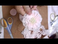 Shabby Chic Gathered Ruffle Flower Tutorial - jennings644 - YouTube