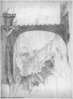 The Foundations of Barad-dűr by John Howe (concept for The LotR movie)
