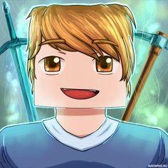 Светловолосый игрок Minecraft с квадратной головой — Аватары и картинки