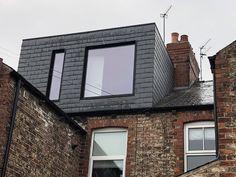 A modern finished dormer Loft Conversion Victorian Terrace, Loft Conversion Windows, Loft Conversion Layout, Loft Conversion Bedroom, Loft Conversions, Loft Dormer, Dormer Roof, Dormer Windows, House Extension Design
