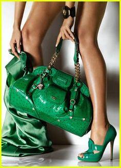 e0a43c5e8aee Gisele s Versace Ads Shades Of Green