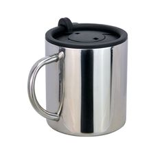 The Timbuck Stainless Mug Features A Steel Double Wall Body Round Handle And Large E For Your Printed Promotional Branding Me