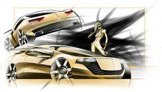 Alias Design car sketching tutorial | Car Design Education Tips