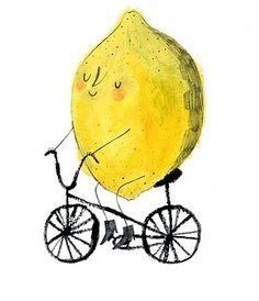 When life gives you lemons, make adorable art Emma Lewis Illustration Alphonse Mucha, Bike Art, Children's Book Illustration, Bicycle Illustration, Character Illustration, Grafik Design, Mellow Yellow, Art Design, Illustrators