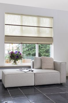 Folds in the living room, this one is with 'desert breeze' paper and 'dark teak' wooden slats