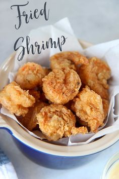 Easy Southern Fried Shrimp - Cooked by Julie Southern Fried Shrimp Recipe, Fried Shrimp Recipes, Prawn Recipes, Shrimp Dishes, Fish Recipes, Seafood Recipes, Grilled Shrimp, Shrimp Tacos, Dinner Recipes