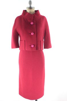 60s Red Suit Dress