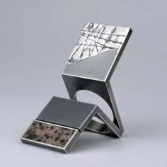 Ring | Helfried Kodré. Silver and Rhodolite. THIS. RING. via Sydney Jewellery School