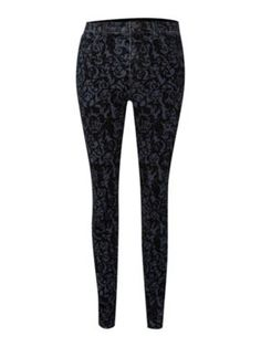 J Brand High rise Maria brocade jean Black - House of Fraser