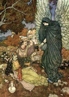 brudesworld:  The Rubaiyat of Omar Khayyam illustrated by Edmund Dulac, 1909