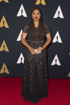 Director Ava DuVernay attends the 8th Annual Governors Awards hosted by the Academy of Motion Picture Arts and Sciences on November 12, 2016, at the Hollywood & Highland Center in Hollywood, California. .The Academy's Board of Governors is presenting Honorary Oscar Awards to actor Jackie Chan, film editor Anne Coates, casting director Lynn Stalmaster and documentary filmaker Frederick Wiseman. / AFP / Valerie Macon