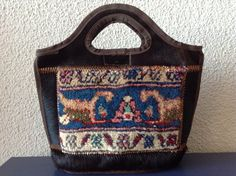 Handmade Brand New Persian carpet and cowhide by GemHandmadeGoods