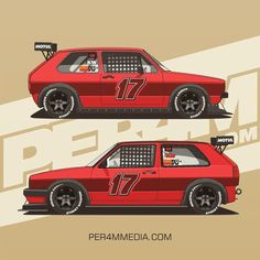 Track weapons / Red Twins Golf MK1/MK2 #per4m_media #vwgolf #vwmotorsport #vwperformance #golfmk2 # - per4m_media