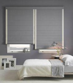 szare rolety rzymskie, grey roman blinds