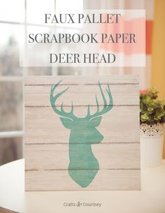 Use cool scrapbook paper and cut pieces of wood to make fabulous DIY wall art in minutes. So easy and looks great on the mantel!