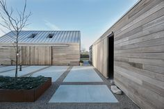 Christoffersen Welling Architects reinterprets Danish barn as cedar-clad home Architecture Durable, German Architecture, Innovative Architecture, Architecture Design, Concrete Pathway, Danish House, Clad Home, Polished Concrete Flooring, Wood Facade