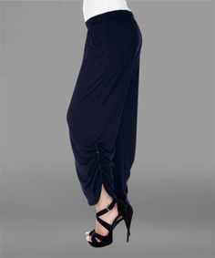 Love this Navy Blue Roll-Tab Cuff Pants - Plus on #zulily! #zulilyfinds