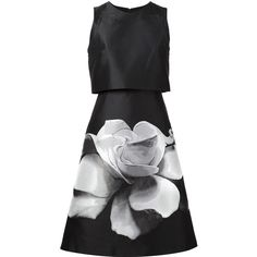 Carolina Herrera floral print A-line dress ($3,495) ❤ liked on Polyvore featuring dresses, carolina herrera, black, floral design dresses, floral print silk dress, floral pattern dress, carolina herrera dresses and floral print a line dress