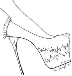 Free Paper Shoe Template | This wonderful shoe illustration is free for everyone to download